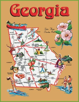 pictorial-travel-map-of-georgia